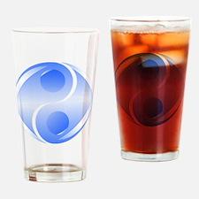 Transparant YinYang Drinking Glass