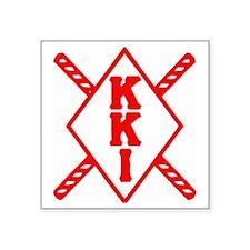 "KKI Staffs Square Sticker 3"" x 3"""