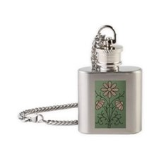 Flower Embroidery iPhone 4 Flask Necklace