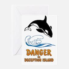 Danger on Deception Island  Greeting Card