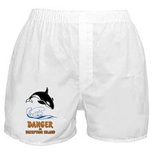 Danger on Deception Island  Boxer Shorts