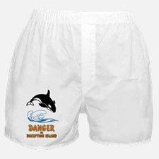 Danger on Deception Island  Boxer Shorts