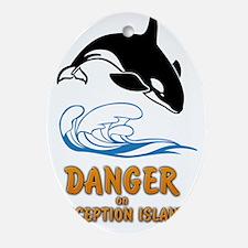 Danger on Deception Island  Oval Ornament