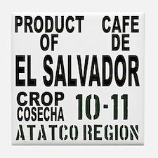 El Salvador Finca El Carmen Tile Coaster