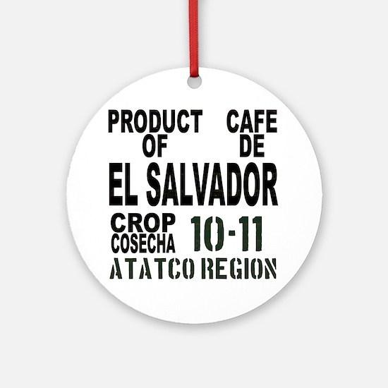 El Salvador Finca El Carmen Round Ornament