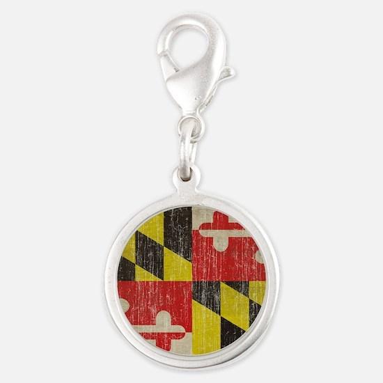 Vintage Maryland Silver Round Charm