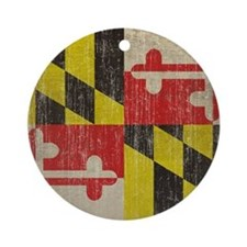 Vintage Maryland Round Ornament