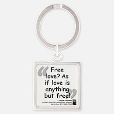 Goldman Love Quote Square Keychain
