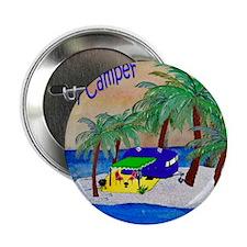 "Happy Camper 2.25"" Button"