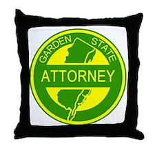 Garden State Attorney Throw Pillow