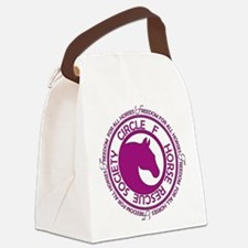 Circle of Freedom violet Canvas Lunch Bag