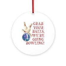 Bowling Stuff Ornament (Round)