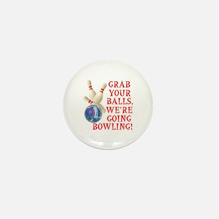 Bowling Stuff Mini Button (10 pack)