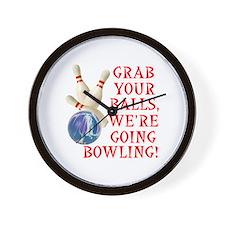 Bowling Stuff Wall Clock