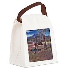 Oxen Wagon Artifact Canvas Lunch Bag