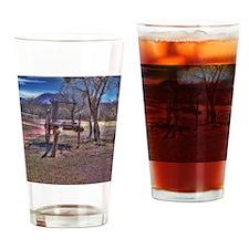 Oxen Wagon Artifact Drinking Glass