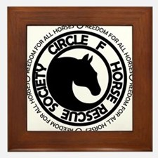 Circle F Horse Rescue Society Framed Tile