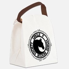 Circle F Horse Rescue Society Canvas Lunch Bag
