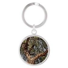 y mesquite tree Round Keychain