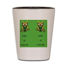 Owl of Mischief Shot Glass