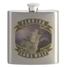 Florida Lone Wolf Pack Logo Flask