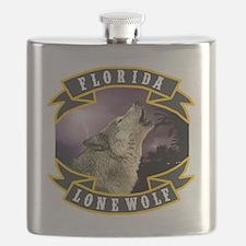 Florida Lone Wolf Pack Logo Flask