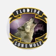 Florida Lone Wolf Pack Logo Round Ornament