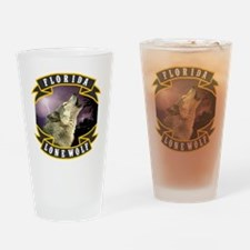 Florida Lone Wolf Pack Logo Drinking Glass