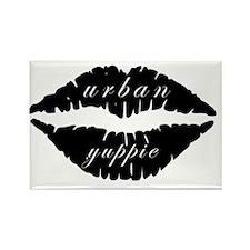 Black Lips Urban Yuppie Rectangle Magnet