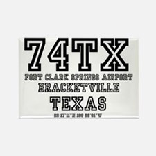 TEXAS - AIRPORT CODES - 75TA - CO Rectangle Magnet