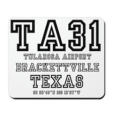TEXAS - AIRPORT CODES - TA31 - TULAROSA  Mousepad