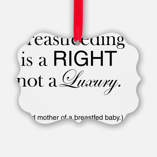 Right to Breastfeed Ornament