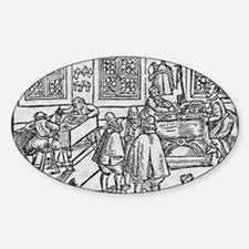 Woodcut of scribes at work Decal