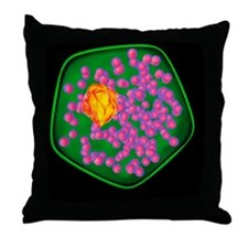 Plant cell, artwork Throw Pillow