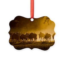 Wildebeest herd Ornament