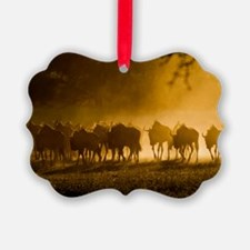Wildebeest herd Ornament