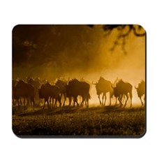 Wildebeest herd Mousepad