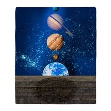 Planetary alignment, artwork Throw Blanket