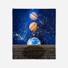 Planetary alignment, artwork Throw Blanket