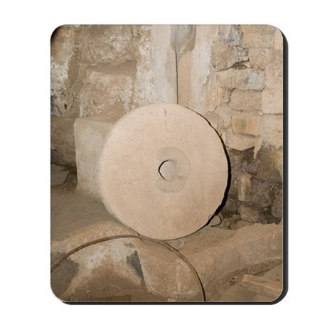 water-powered flour mill Mousepad