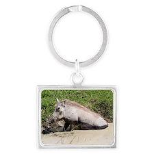 Warthog Landscape Keychain
