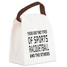 Racquetball Designs Canvas Lunch Bag