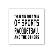 "Racquetball Designs Square Sticker 3"" x 3"""