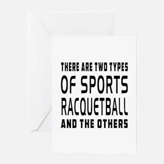 Racquetball Designs Greeting Card