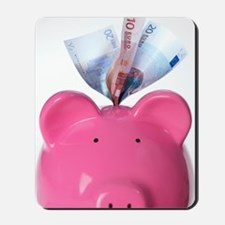 Piggy bank and euros Mousepad