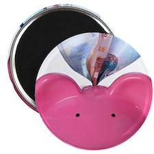 Piggy bank and euros Magnet