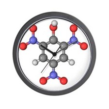 Picric acid explosive molecule Wall Clock