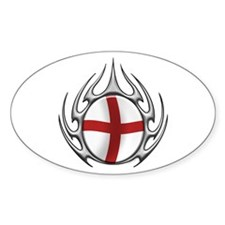 St Georges Cross: Tribal Arachnid Oval Decal