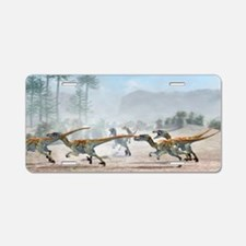 Velociraptor dinosaurs Aluminum License Plate