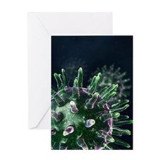 Virus particles, artwork Greeting Card
